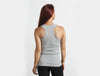 Heather Grey 100% Cotton Racerback Tank Top - Lady Tank