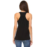 Black Flowy Racerback Tank Top - Lady Tank
