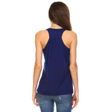 Navy Blue Flowy Racerback Tank Top - Lady Tank
