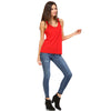 Red Flowy Racerback Tank Top - Lady Tank