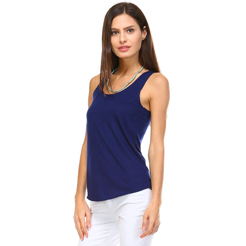 Royal Blue Razor Racerback Tank Top