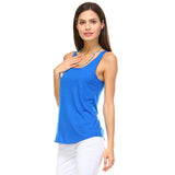 Royal Blue Razor Racerback Tank Top - Lady Tank