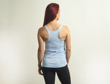 Light Blue Tri-Blend Racerback Tank Top - Lady Tank