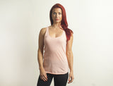 Peach Tri-Blend Racerback Tank Top - Lady Tank