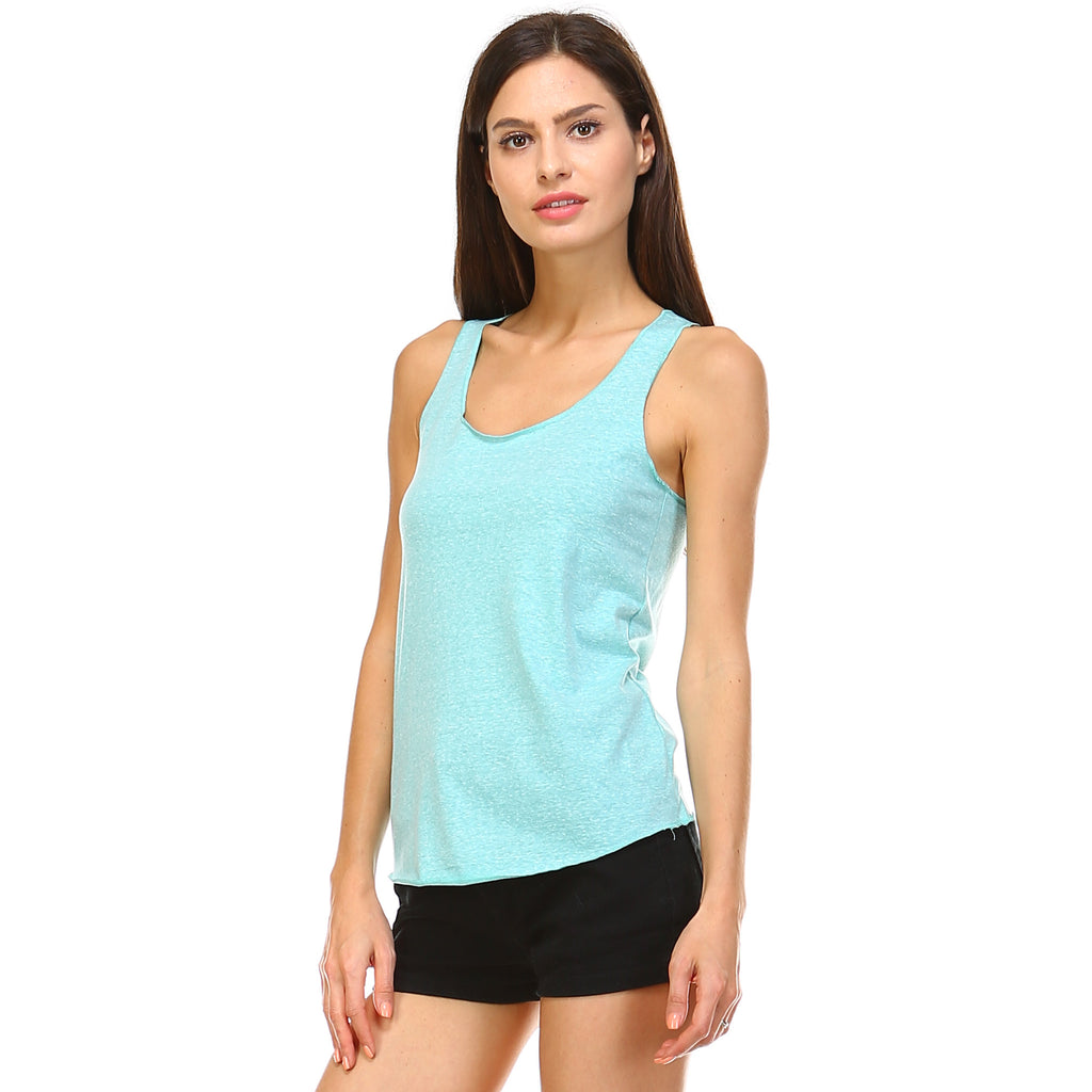 Mint Tri-Blend Racerback Tank Top - Lady Tank