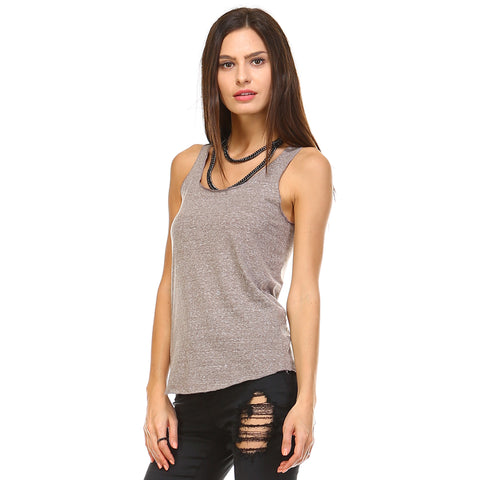 Dark Heather Tri-Blend Racerback Tank Top