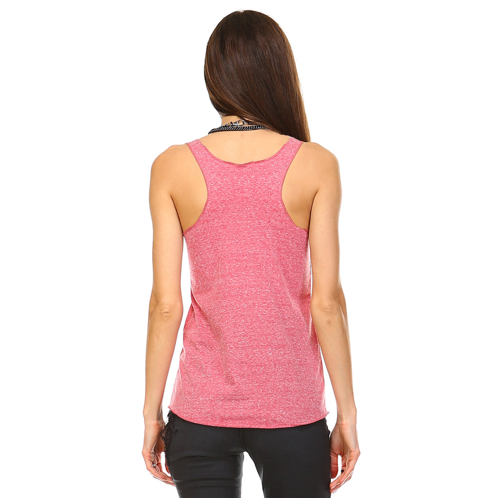 Cranberry Tri-Blend Racerback Tank Top - Lady Tank