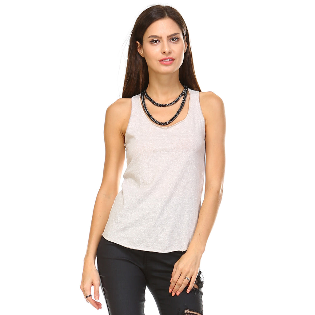 Oatmeal Tri-Blend Racerback Tank Top - Lady Tank