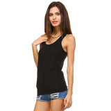 Black Burnout Racerback Tank Top - Lady Tank