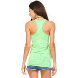 Apple Green Burnout Racerback Tank Top - Lady Tank