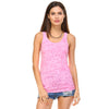 Bubble Gum Pink Burnout Racerback Tank Top - Lady Tank