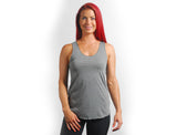 Heather Grey Solid Racerback Tank - Lady Tank