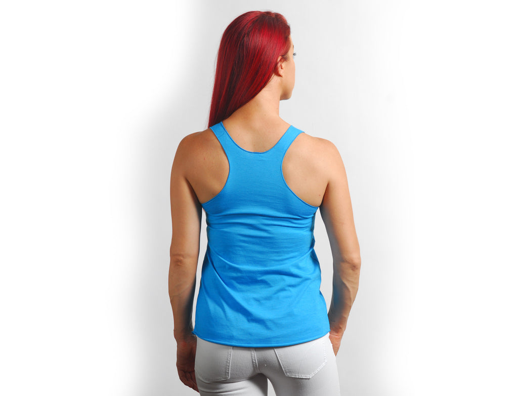 Turquoise Solid Racerback Tank - Lady Tank