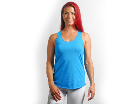 Royal Blue Drapey Racerback Tank Top