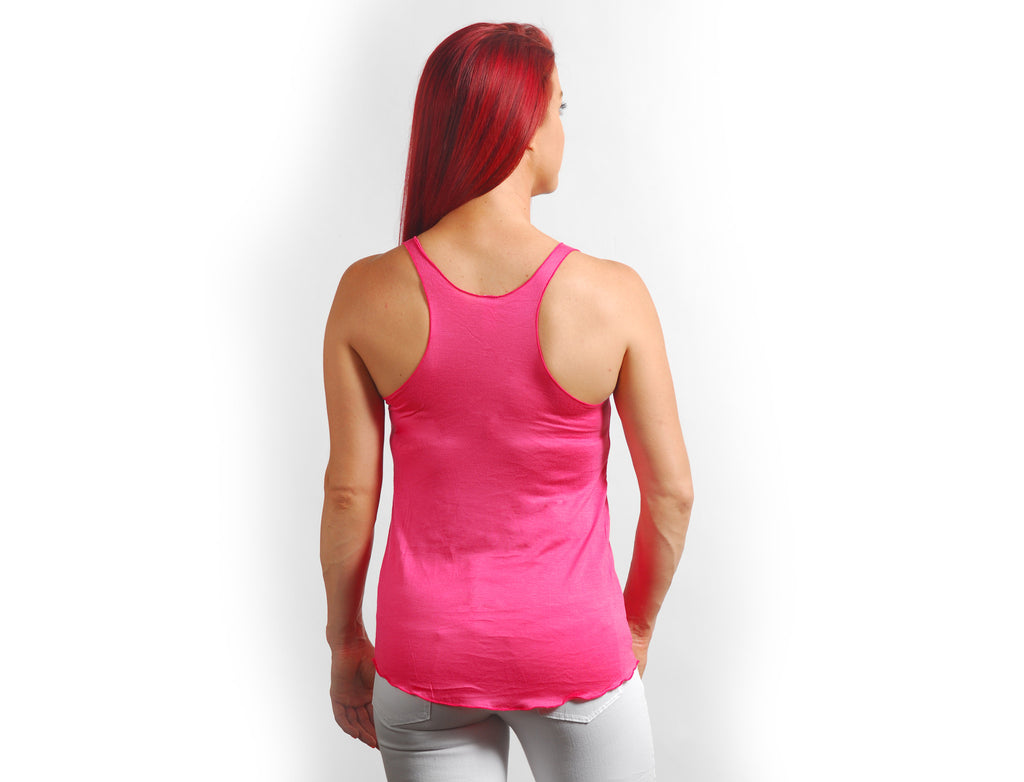 Coral Solid Racerback Tank - Lady Tank