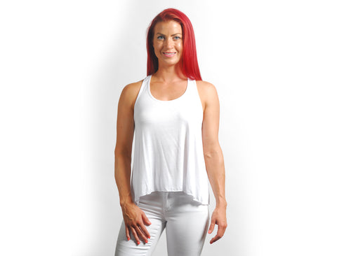 Heather Grey Solid Racerback Tank