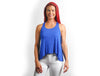 Royal Blue Drapey Racerback Tank Top - Lady Tank