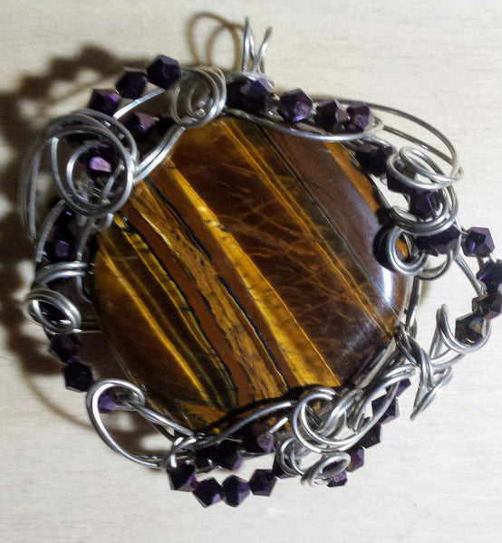 Ornate Tigerseye Pendant - Antika Nueva