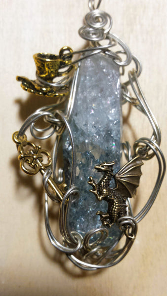 Write Your Own Fairytale Quartz Crystal Pendant - Antika Nueva