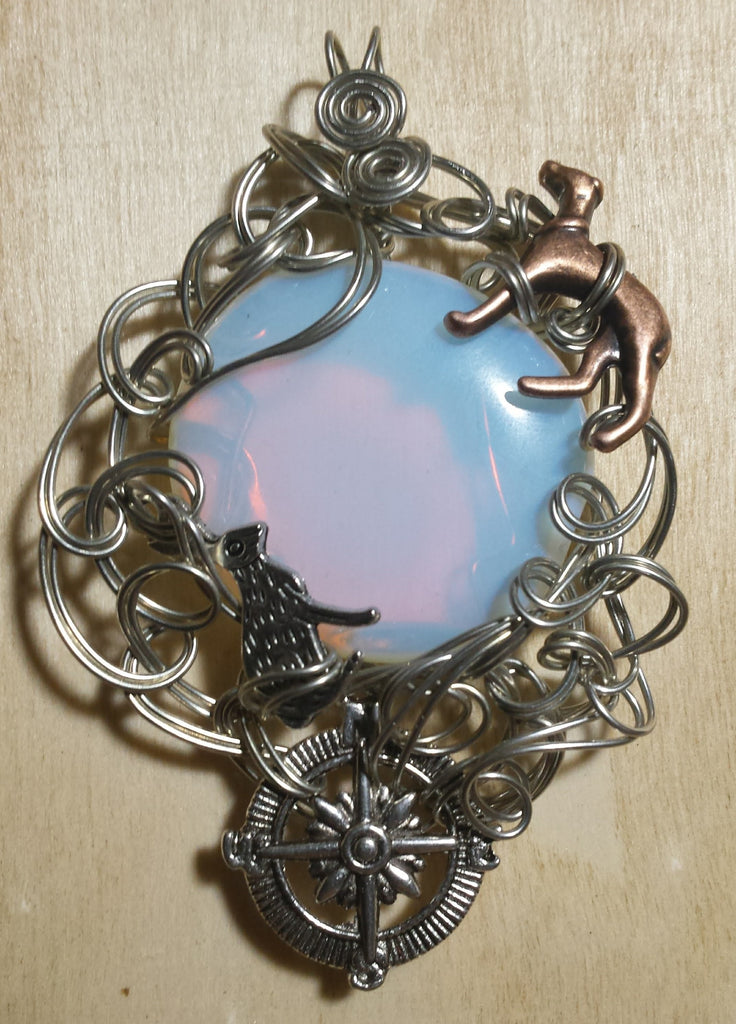 Write Your Own Fairytale Opalite Pendant - Antika Nueva
