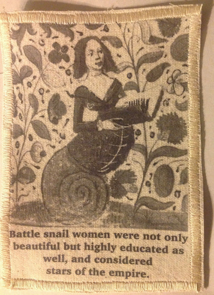 Cotton Canvas Handmade Sew-On Patch --Battle Snail Women Were Stars Of The Empire - Antika Nueva