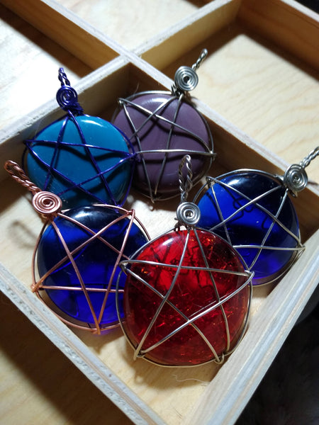 Art Glass Star Pendant - Antika Nueva