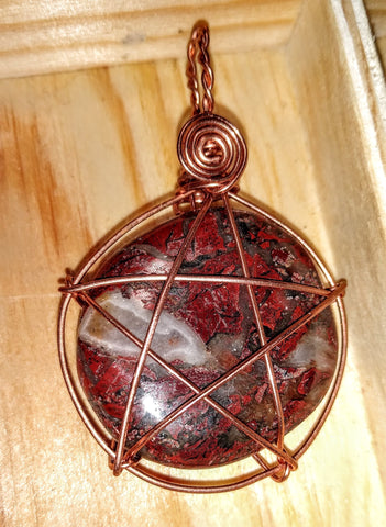 Rock Star Pendant-- Jasper and Copper