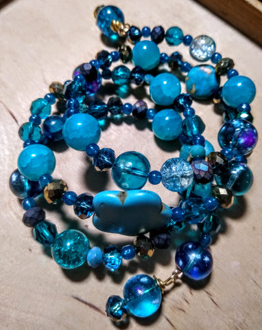 All The Colors Of Ocean Crystal Bracelet