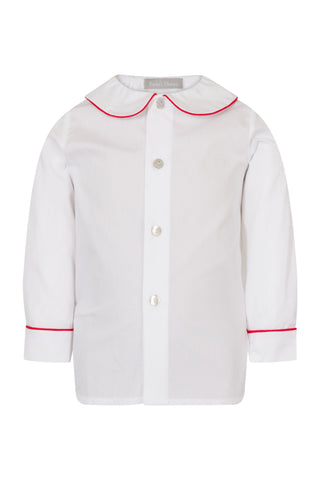 Long sleeve shirt with red trim