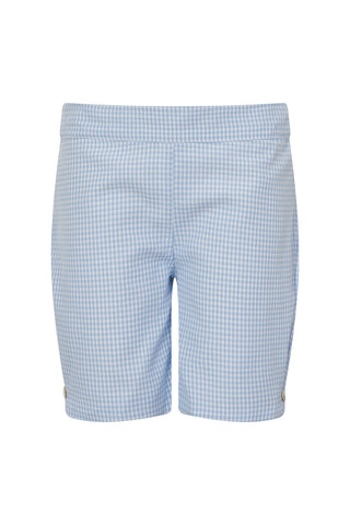 Pale blue gingham shorts