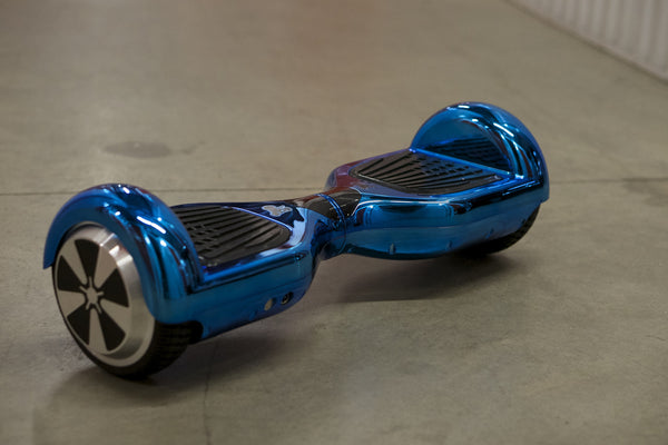 Blue Chrome Hoverboard