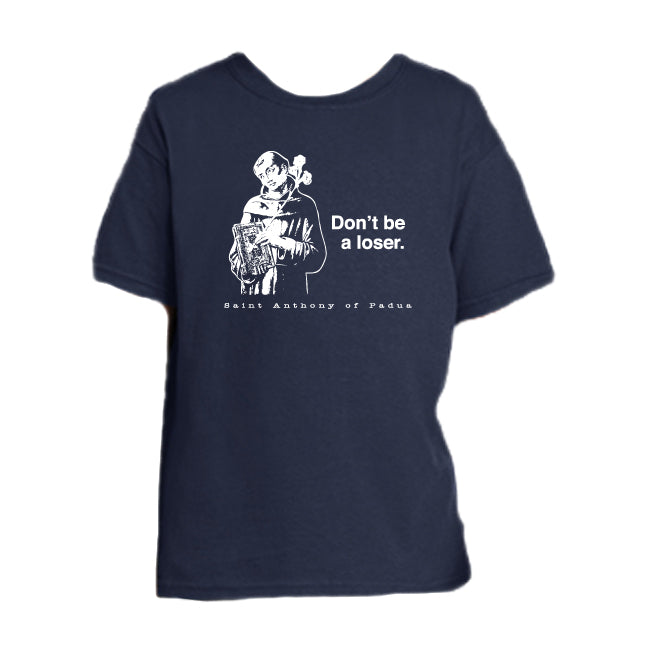 Saint for Losers - St. Anthony Youth T Shirt  © - That One Sheep