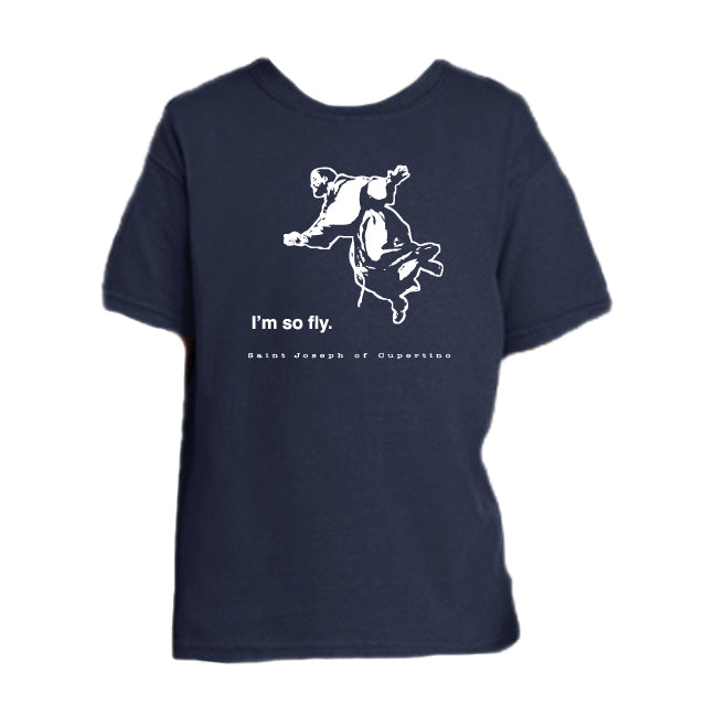 So Fly - St. Joseph of Cupertino Youth T Shirt  © - That One Sheep