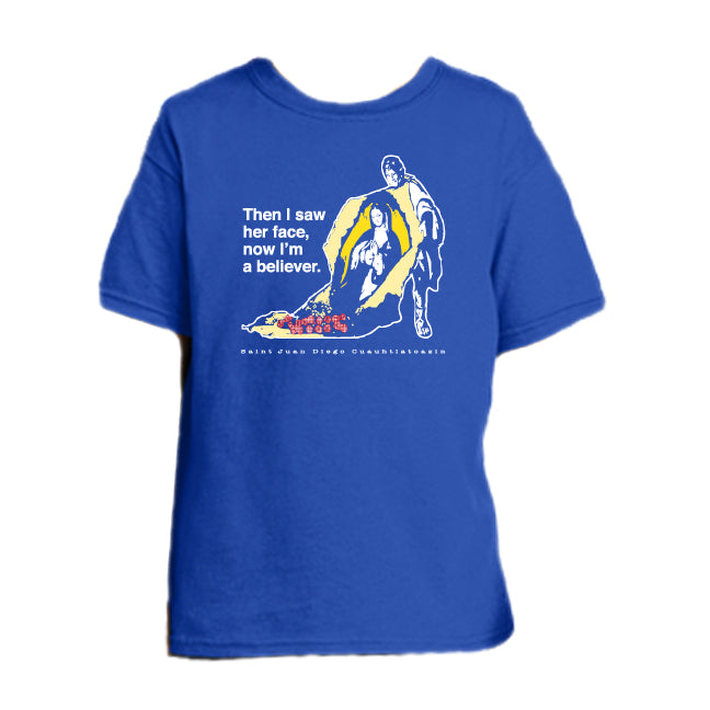 Tilma Testimony – St. Juan Diego Youth T Shirt  © - That One Sheep