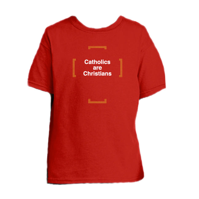 No Distinction – Catholics are Christians Youth T Shirt  © - That One Sheep