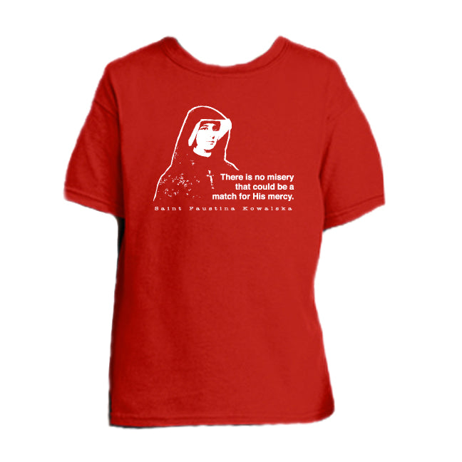 Mercy Message - St. Faustina Kowalska Youth T Shirt  © - That One Sheep
