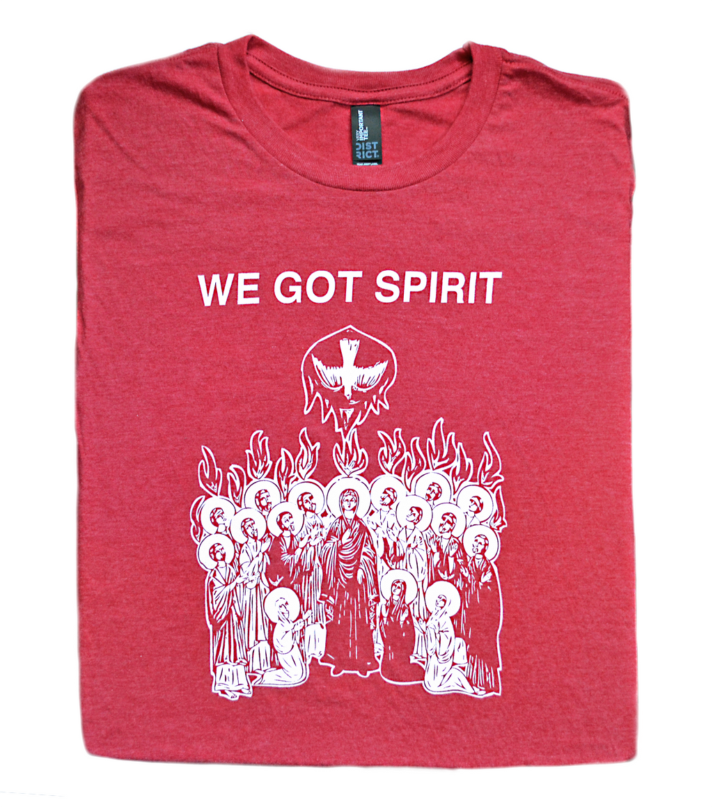 We Got Spirit, Yes We Do - Pentecost T Shirt  © - That One Sheep