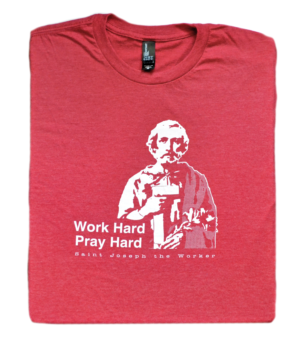 Bona Fide Work Ethic - St. Joseph the Worker T Shirt  © - That One Sheep