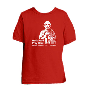 Bona Fide Work Ethic - St. Joseph the Worker Youth T Shirt  © - That One Sheep