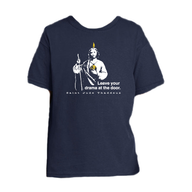 Drama Free Zone - St. Jude Thaddeus Youth T Shirt  © - That One Sheep