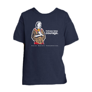 Heroic Courage – St. Kateri Tekakwitha Youth T Shirt  © - That One Sheep