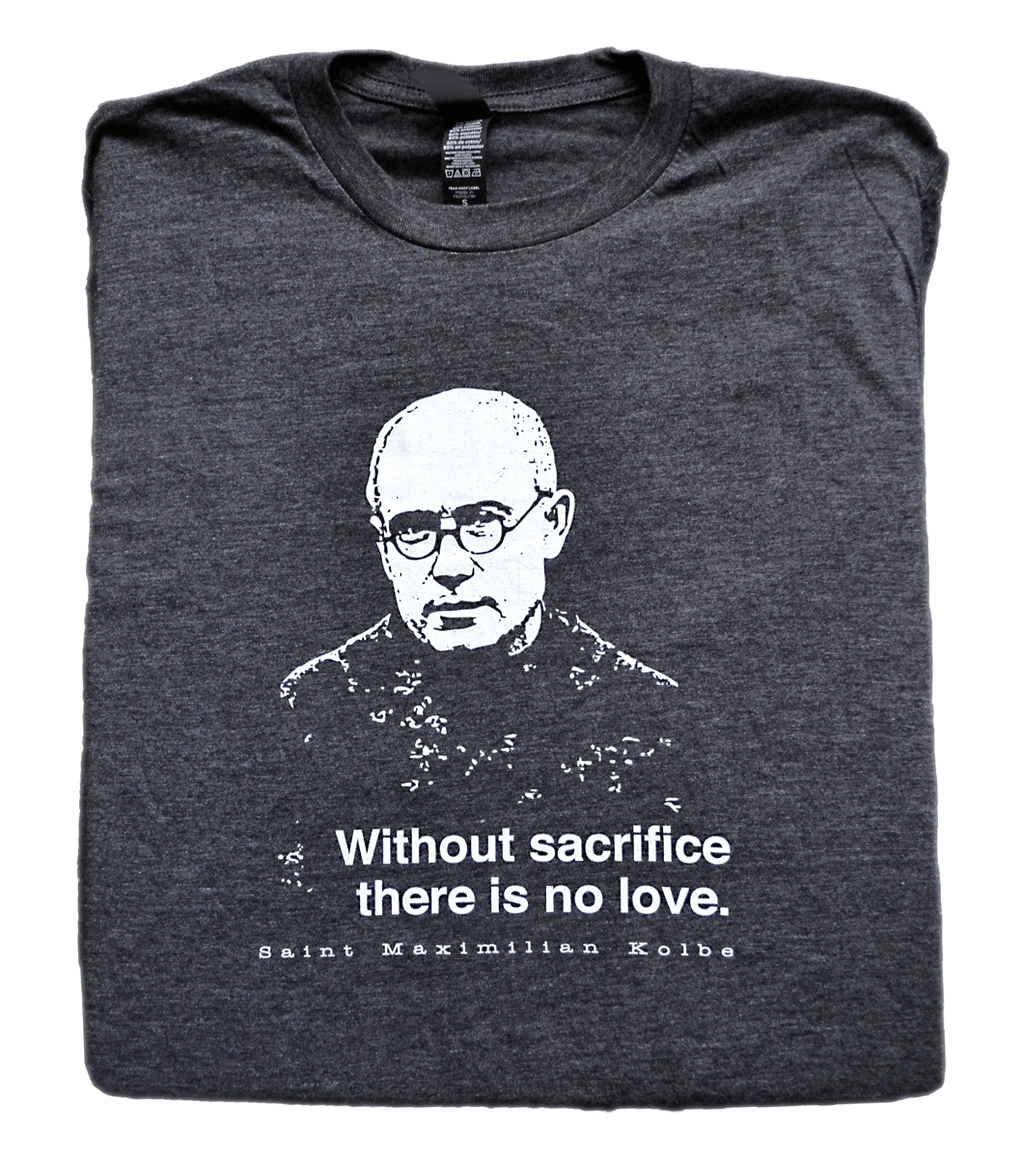Auschwitz Martyr - St. Maximilian Kolbe T Shirt  © - That One Sheep