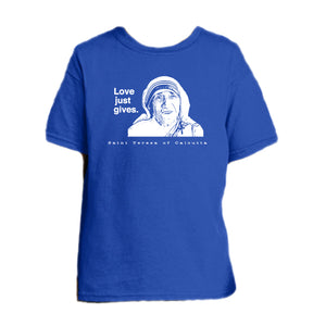 Mother's Love - St. Teresa of Calcutta Youth T Shirt  © - That One Sheep