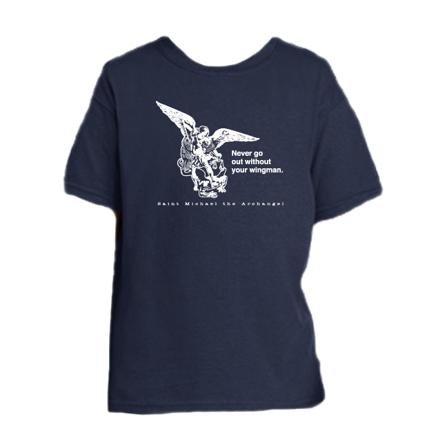 Defend Us in Battle - St. Michael the Archangel Youth T Shirt  © - That One Sheep