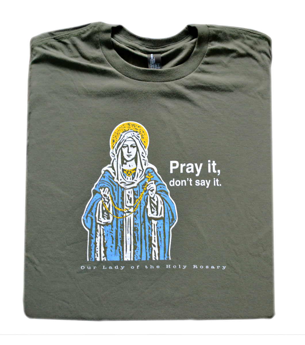Count On It – Our Lady of the Rosary T Shirt  © - That One Sheep