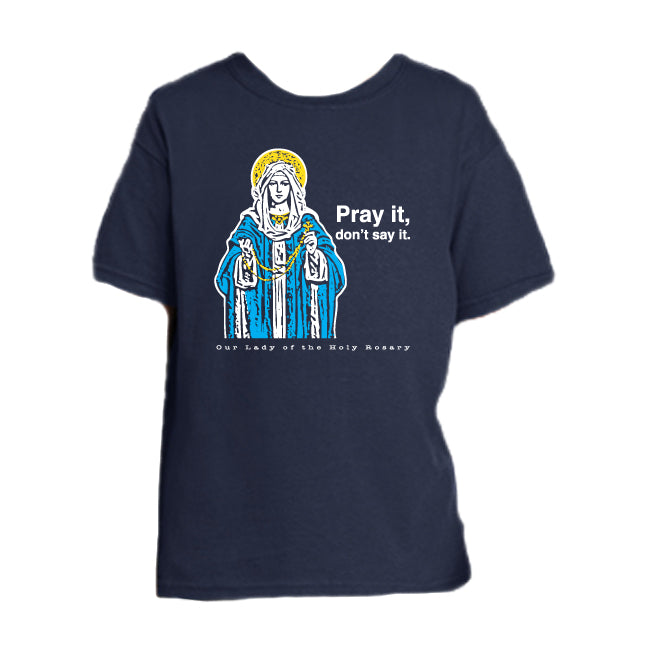 Count On It – Our Lady of the Rosary Youth T Shirt  © - That One Sheep