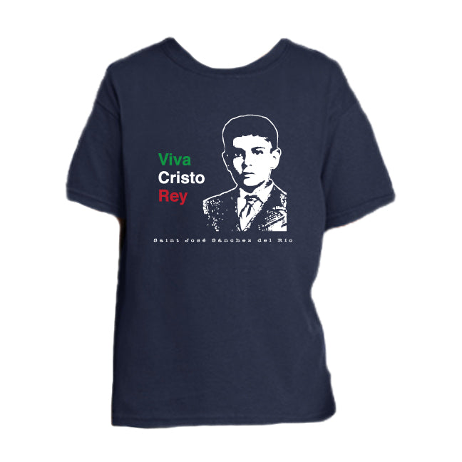 Viva Cristo Rey - St. Jose Sanchez del Rio Youth T Shirt  © - That One Sheep