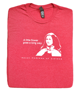 Pray Up and Smell the Roses - St. Therese of Lisieux T Shirt  © - That One Sheep