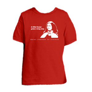 Pray Up and Smell the Roses - St. Therese of Lisieux Youth T Shirt  © - That One Sheep