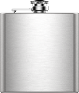 Line Art Map Hip Flask